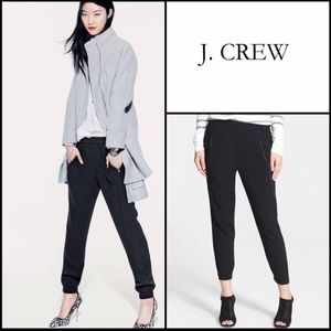 J. Crew Black Crepe Turner Jogger Zipper Pants